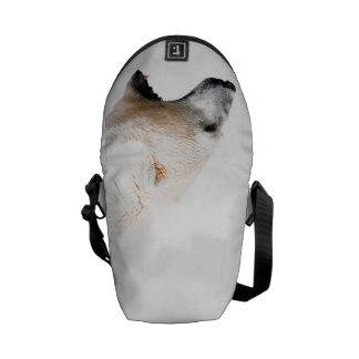 Polar bear growl courier bag