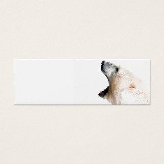 Polar bear growl mini business card