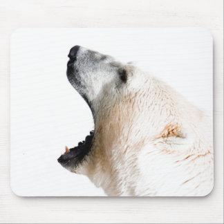 Polar bear growl mouse pad