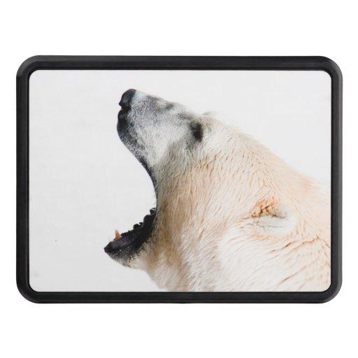 Polar bear growl trailer hitch covers