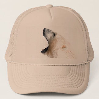 Polar bear growl trucker hat