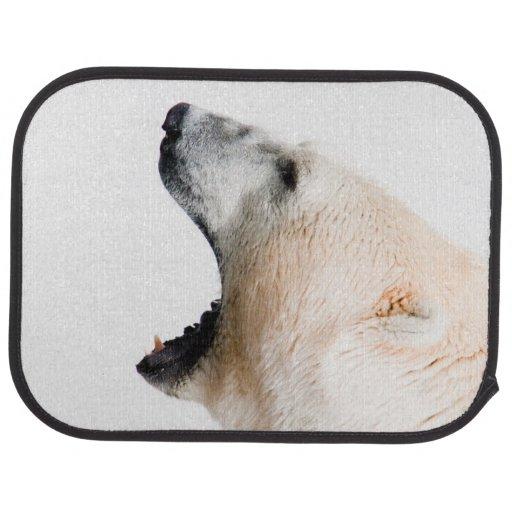 Polar bear growl car mat