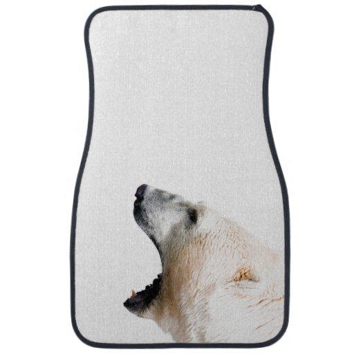 Polar bear growl floor mat