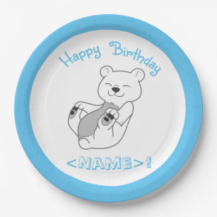Polar Bear Happy Birthday Paper Plates  sc 1 st  Zazzle & Polar Bear Plates | Zazzle