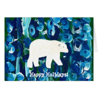 Polar Bear, Happy Holidays! Card