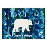 Polar Bear, Happy Holidays! Greeting Cards
