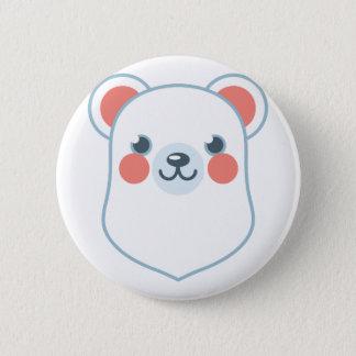 Polar Bear Head Button