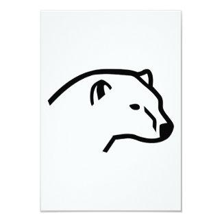 Polar bear head card