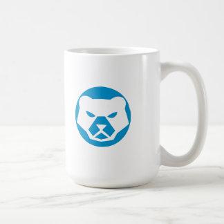 Polar Bear Head Circle Retro Coffee Mug