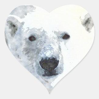 POLAR BEAR HEART STICKER
