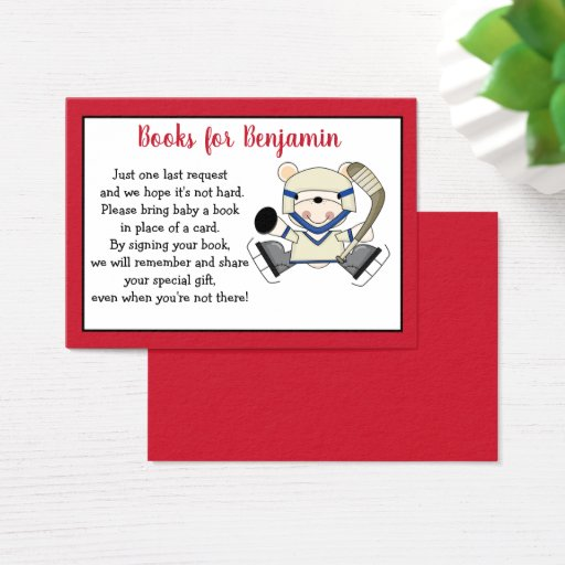Polar Bear Hockey Customized Book Request Cards