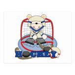 Polar Bear Hockey Goalie Tshirts and Gifts Post Card