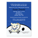 Polar Bear Hockey Sports 5x7 Baby Shower Invite