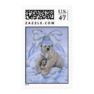 Polar Bear Holiday Stamp