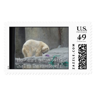 Polar Bear, How am I going to fit that in the e... Stamp