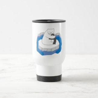 Polar Bear Hug 15 Oz Stainless Steel Travel Mug