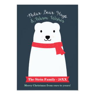 Polar Bear Hugs and Warm Wishes Card