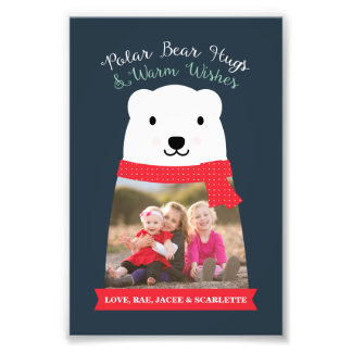 Polar Bear Hugs and Warm Wishes Photo