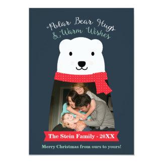 Polar Bear Hugs and Warm Wishes Photo Card
