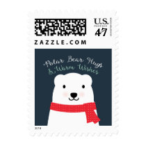 Polar Bear Hugs and Warm Wishes Postage