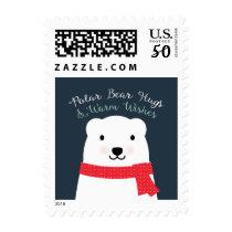 Polar Bear Hugs and Warm Wishes Postage