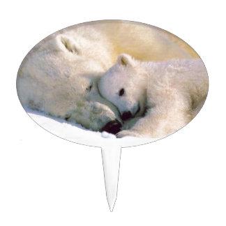 Polar Bear Hugs Cake Picks