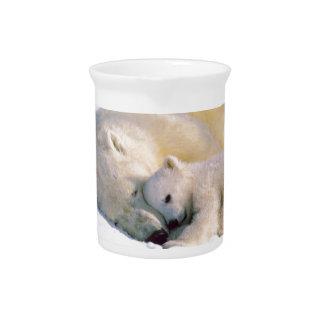 Polar Bear Hugs Drink Pitcher