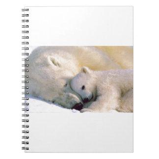 Polar Bear Hugs Spiral Note Book