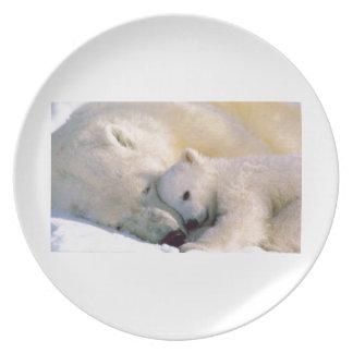 Polar Bear Hugs Dinner Plates