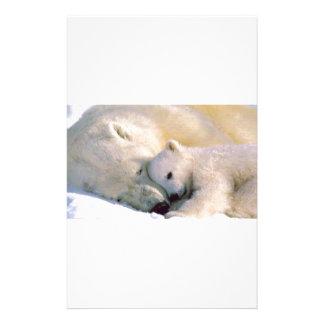 Polar Bear Hugs Customized Stationery