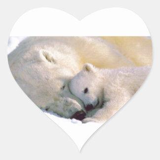 Polar Bear Hugs Stickers