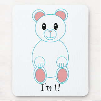Polar Bear I am One Birthday Mousepad