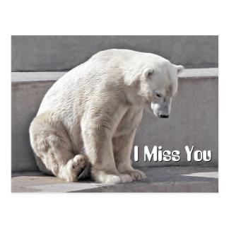 Polar Bear I Miss You Postcard