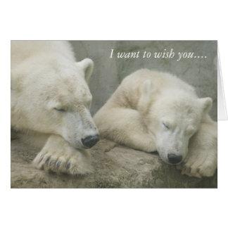Polar Bear I want to wish you.... Greeting Card