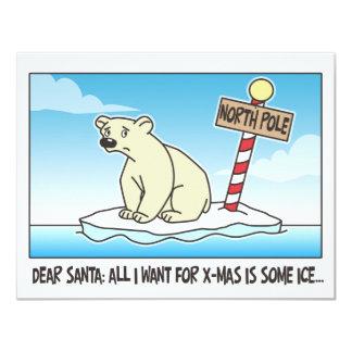 Polar Bear Ice Christmas Card