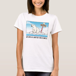 Polar Bear Ice Christmas T-Shirt