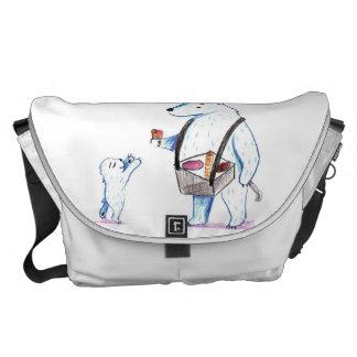 Polar Bear Ice Cream Seller Messenger Bag