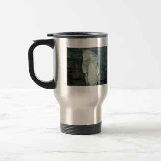 Polar Bear ice sculpture 15 Oz Stainless Steel Travel Mug