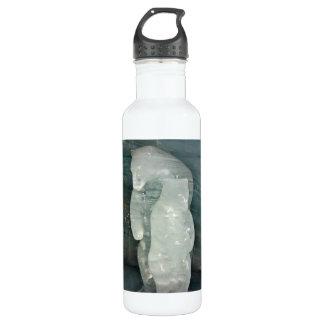 Polar Bear ice sculpture 24oz Water Bottle