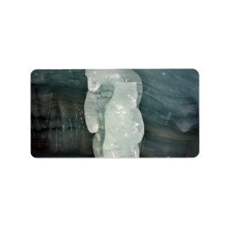 Polar Bear ice sculpture Address Label