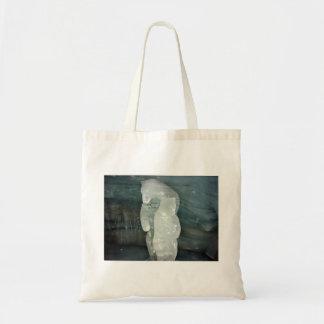 Polar Bear ice sculpture Budget Tote Bag