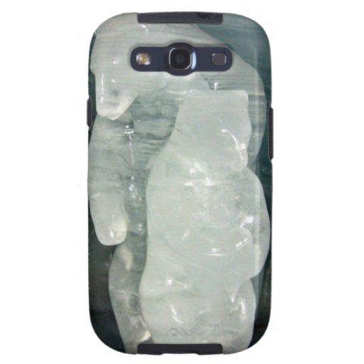 Polar Bear ice sculpture Samsung Galaxy SIII Case
