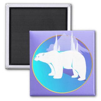 Polar Bear in A Circle  Magnet