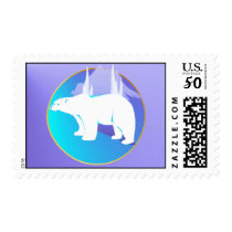 Polar Bear in A Circle  Postage