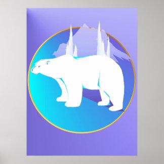 Polar Bear in A Circle  Poster