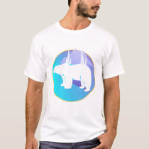 Polar Bear in A Circle  T-Shirt
