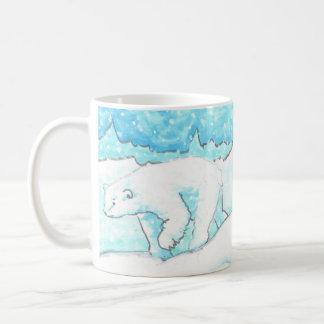 Polar Bear in a Snow Storm subtle humor Mug