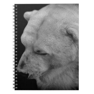 Polar Bear in Black and White Journal