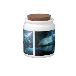 Polar Bear In Prayer 2 Cookie Jar Candy Dish