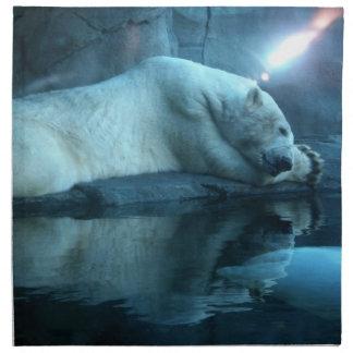 Polar Bear In Prayer 2 Napkin